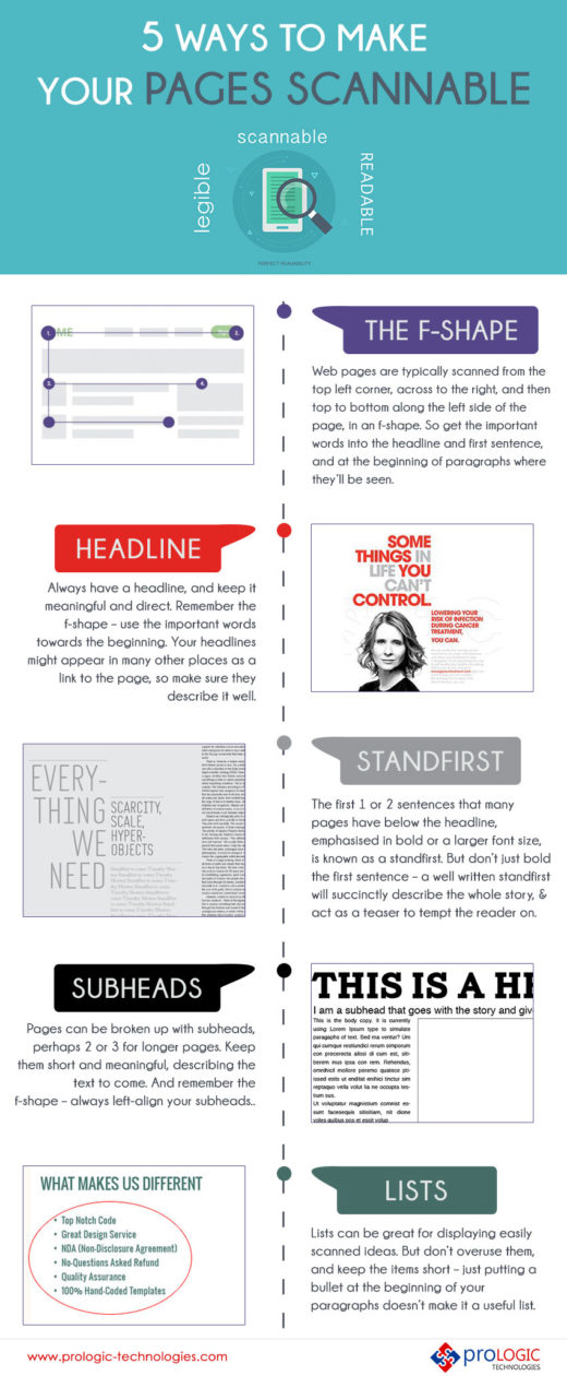 5 Ways To Make Your Pages Scannable
