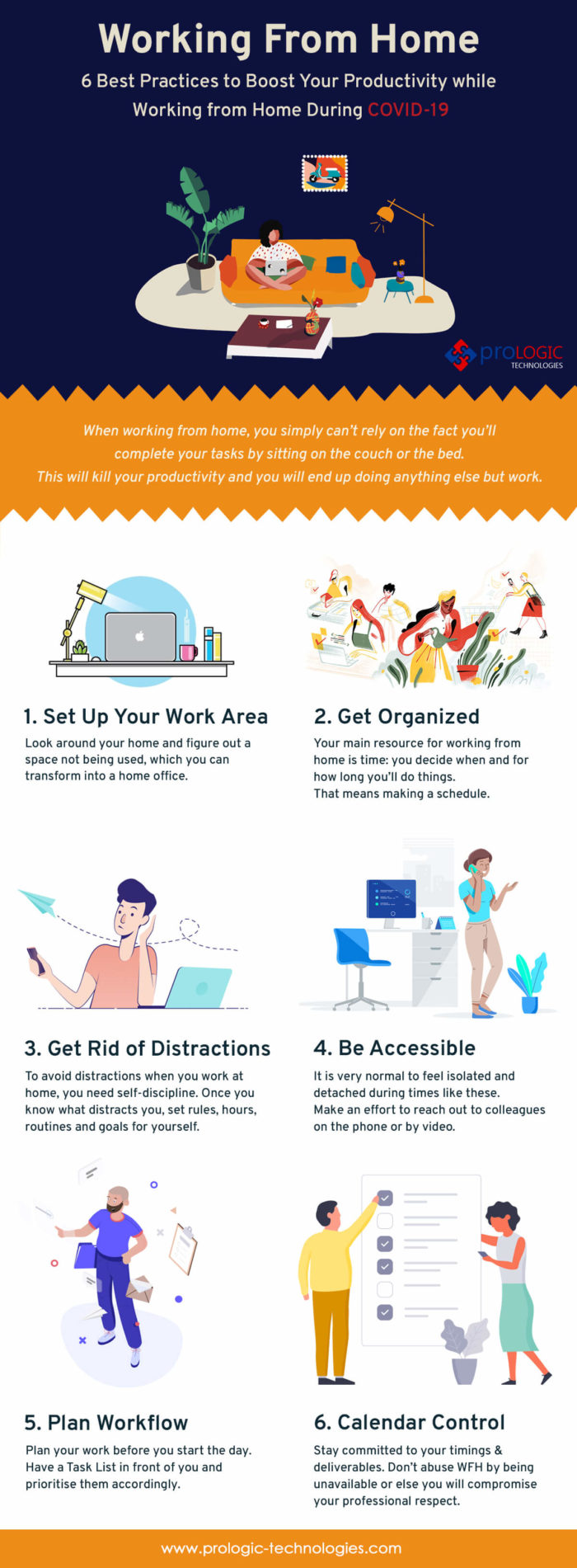 6 Best Practices to Boost Your Productivity while Working from Home During COVID-19