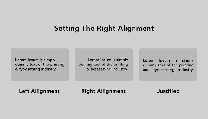Set alignment