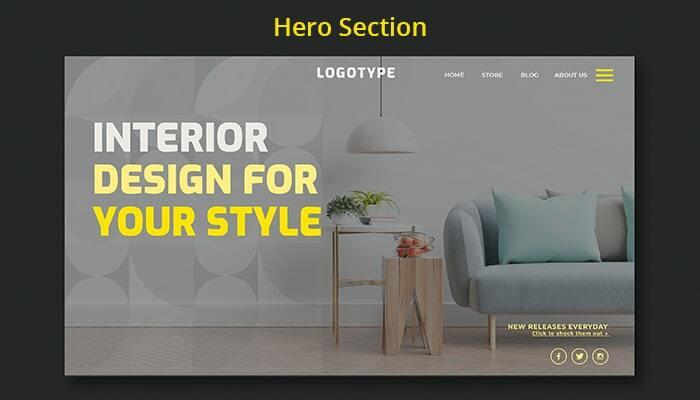 hero section